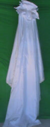 Detachable White Wedding Train With Sequence $60.00