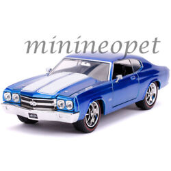 JADA 31450 BIGTIME 1970 CHEVY CHEVELLE SS 124 DIECAST MODEL CAR BLUE