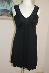 Peppermint Bay Black Sleeves Beaded Summer Dress Size S