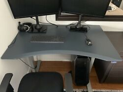 Evo uplift desk with removable stand for 2 screens and adjustable height control $1,000.00
