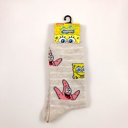 New Mens Nickelodeon Spongebob Squarepants And Patrick Star Socks Size 6 12 $13.99