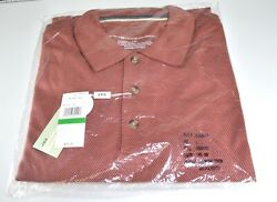 Axis Modern Cont - Polo Men's Shirt - Large - Fig Color - New in Plastic Wrap!!! $40.00
