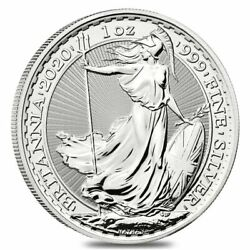2020 Great Britain 1 oz Silver Britannia Coin .999 Fine BU - IN-STOCK!! $38.00