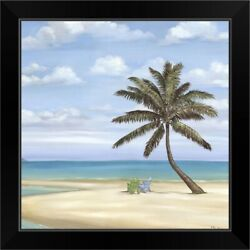Inlet Palm II Black Framed Wall Art Print Palm Tree Home Decor $48.74