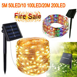 50 200 Led Solar Power Fairy Light String Lamp Party Xmas Deco Garden Outdoor $8.59