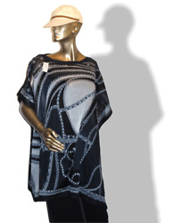 Hermes Blue Robe du Soir Cotton Beach Tunic Dress Sz All NWT!
