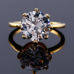 Gorgeous White Sapphire Diamond Gold over 925 Silver Wedding&Party Flower Ring 7