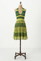 Anthropologie Dress Sundress Summer Beach Party Halter By Charlie Robin Size L