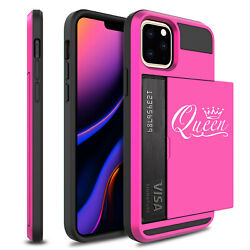 For Apple iPhone 11 Shockproof Wallet Credit Card Holder Case Cover Queen Fancy $14.99