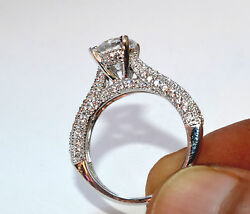2.63Ct Round cut Solitaire Bridal Diamond Engagement Ring 14k Solid White Gold
