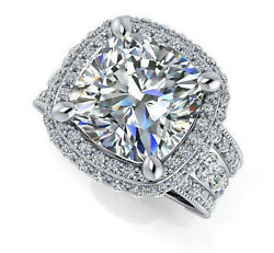 2.88ct Brilliant cut Solitaire Diamond Engagement Ring Solid 14k White Gold