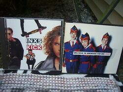 INXS 2 CD LOT ~ Welcome to Wherever You Are ~ KICK ~ GREAT SHAPE ~ FREE SHIP