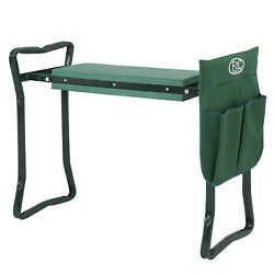 Foldable Garden Kneeler Seat Tool Bag Outdoor Work Portable Storage Stool Pouch $26.99