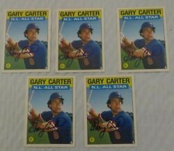 5 GARY CARTER  1985 TOPPS N.L. ALL STAR BASEBALL CARDS  - METS - SIGNED
