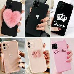 For iPhone 12 Pro Max 11 XS Max XR 8 Plus Shockproof Slim Case Cute Phone Covers $7.89