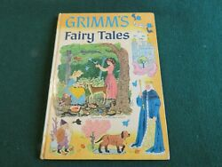 Vintage Grimm's Fairy Tales Hardcover Book.  1955.  Illustrated