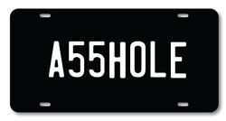 A55HOLE License plate novelty car vanity tag Funny Adult Humor $9.99