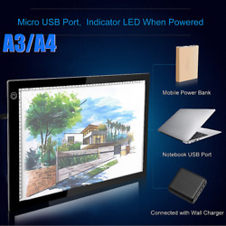 A3A4 LED Tracing Light Box Artist Tattoo Board Pad Table Drawing Stencil Artist