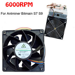 6000 RPM Cooling Fan Replacement 4-pin Connector For Antminer Bitmain S7 S9 $12.43