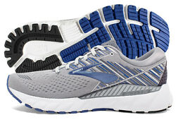 Brooks Adrenaline GTS 19 Mens Shoe GreyBlueEbony multiple sizes New In Box $89.95