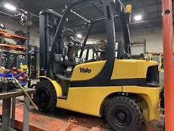 2010 Yale 5000 Pound BUDGET PRICED Forklift-Pneumatic-WE WILL SHIP! LPG-TripleSS