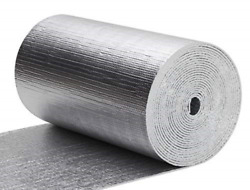62.5 SF Reflective Foam Thermal Foil Insulation Radiant Barrier (16X50 Ft Roll)  $38.88