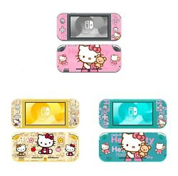 Ci-Yu-Online Kitty Vinyl Skin Sticker Screen Protector for Nintendo Switch Lite