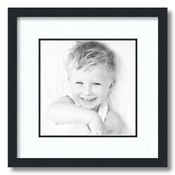 ArtToFrames Matted 14x14 Black Picture Frame with 2quot; Double Mat 10x10 Opening $28.21