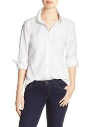 Banana Republic Tailored Poplin Lace-Yoke White Button Down Shirt NWT $64.99