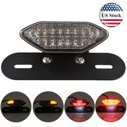 Motorcycle 16 LED Turn Signals Brake Running License Plate Integrated Tail Light $23.05