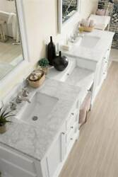 94 in. Double Vanity Set in Bright White [ID 3900987]