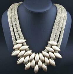 Fashion Betsey Johnson Jewelry multi-layer woven tassel clavicle chain Necklace
