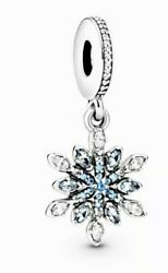 AUTHENTIC PANDORA Silver  Dangle Snowflake Christmas Joy Charm 791761