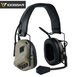IDOGEAR Electronic Headset Ear Muffs Shooting No Battery Version Airsoft Hunting $44.03
