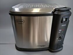Used 1 Butterball XL Electric Turkey Deep Fry Masterbuilt Stainless Steel Indoor