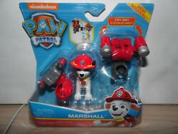 NEW PAW PATROL MARSHALL with 2 Clip-On Backpacks NICKELODEON Spin Master