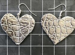 Handmade Unique Vintage Heart Shaped Crafted Artisan Brand New Jewelry Earrings.
