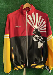 Vntg 90's LRG Lifted Research Group Track Jacket Embroidered  Africa Mens XL
