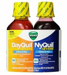 Vicks DayQuilNyQuil Severe Cold - Flu Liquid Convenience Pack 12 oz ea