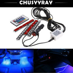 1set Car LED Light Interior Strip Lamp Atmosphere SUV Floor Remote Music Control $13.59