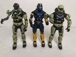 Mcfarlane Lot of 3 Halo Reach Infection ODST Zombie HAZOP Yellow-Blue Figures