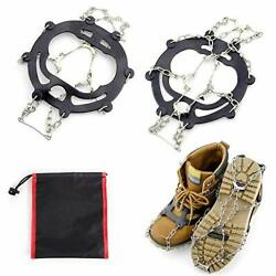 Ice Snow Grips Waking Traction Cleats Stainless Steel Anti Slip Boots Spikes $8.99
