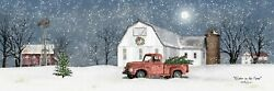 Winter on the Farm by Billy Jacobs Winter Christmas Farm Old Truck Print 24x8
