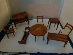 Wooden Miniature Doll House Furniture Items Clock