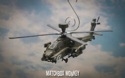 US Army Modern Boeing AH 64D Longbow Apache Helicopter Christmas Ornament USA $55.00