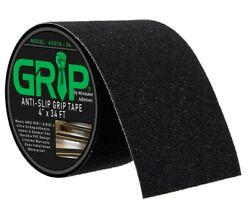 Anti Slip High Traction Grip Tape for Steps Indoor Outdoor Black 4quot; x 34#x27; $15.99