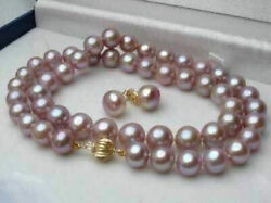 Pretty 7 8mm Natural Lavender Freshwater Pearl Earrings Necklace Set 18quot; $6.99