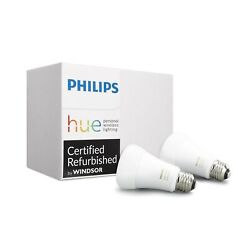 Philips Hue White Ambiance A19 3rd Gen Dimmable LED Smart Bulb 2 Pack $29.99