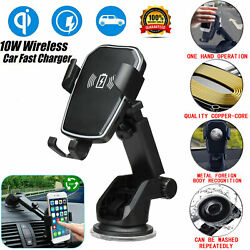 Wireless Fast Charger Dock Car Holder Mount For iPhone 11 XS XR X Samsung S10 S9 $13.55