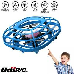 UDIRC Flying Ball Drone for Kids Hand Operated Mini Drone Toy with Fan Mode Blue $18.98